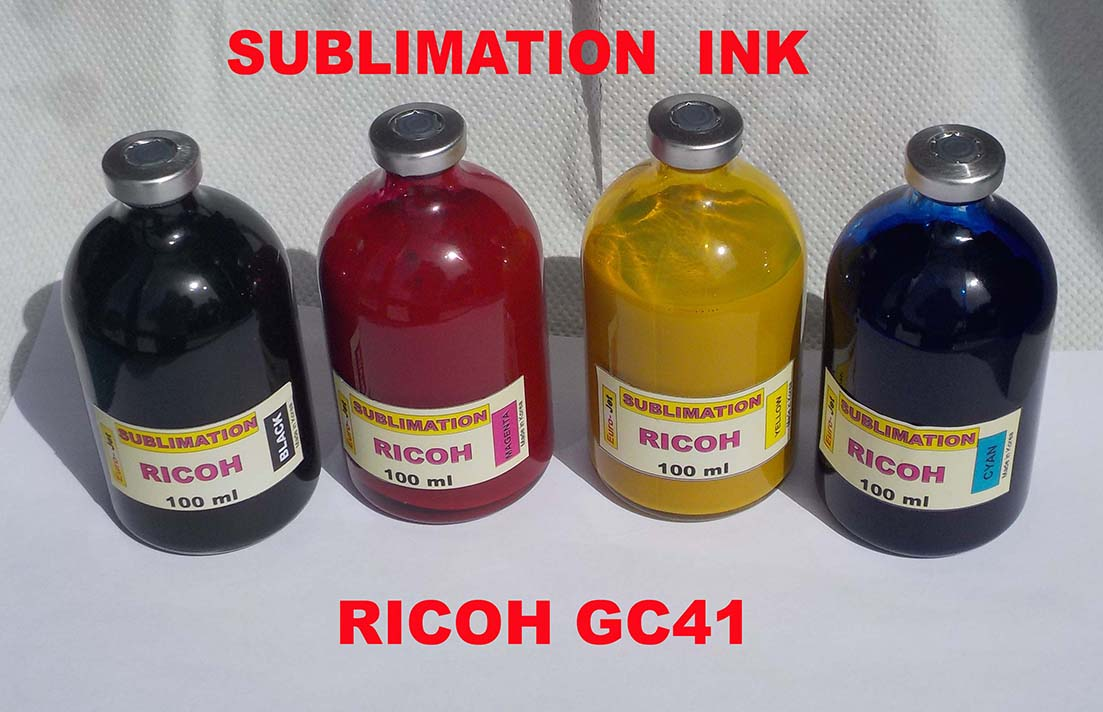 RICOH GC41 SUBLIMATION INK BLACK+ CYAN + MAGENTA+ YELLOW   100ml