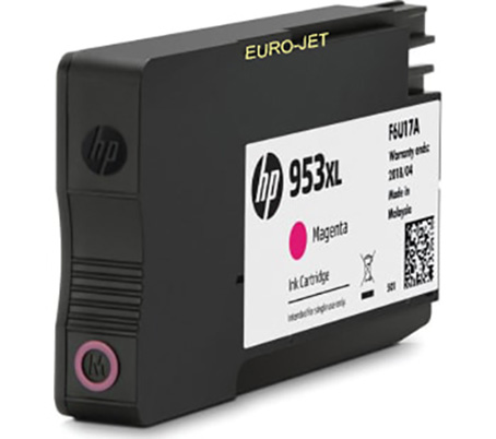 HP 953XL Magenta (with NEW chip) ΣΥΜΒΑΤΟ για OFFICEJET Pro7720, 7720WF, 7740, 8715, 8725, 8218, 8210, 8716, 8710, 8720, 8730, 8740