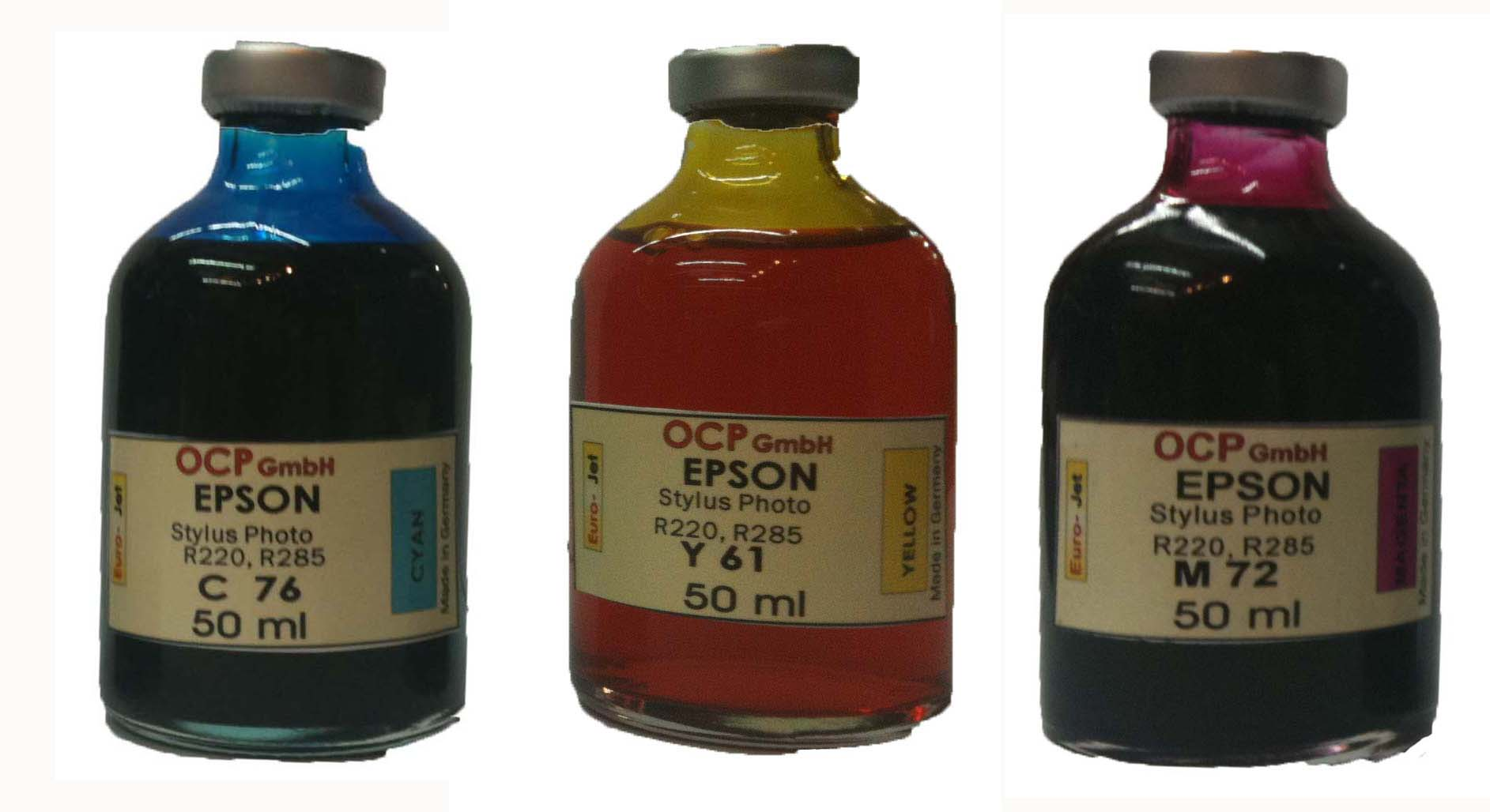 Set Epson 50ml Cyan Magenta Yellow