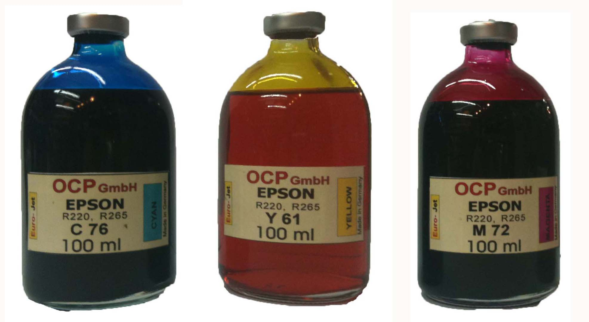 Set Epson 100ml Cyan Magenta Yellow